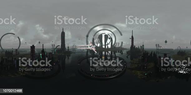 Spherical 360 degrees seamless panorama alien futuristic city 3d picture id1070012468?b=1&k=6&m=1070012468&s=612x612&h=qkpdopuj0re ho8sxm xw7mfj1a8p0btez864v38nsy=