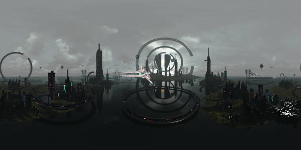 Spherical 360 degrees seamless panorama alien futuristic city 3d picture id1070012468?b=1&k=6&m=1070012468&s=612x612&w=0&h=mgaf7z8jvvlmcxyvrhjh86yjme8fry4eawmdjxxawu4=