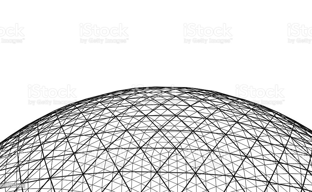 Spherical black grid stock photo
