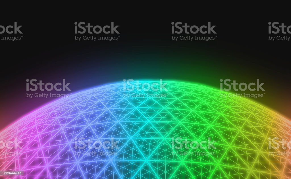 Spherical colorful grid stock photo