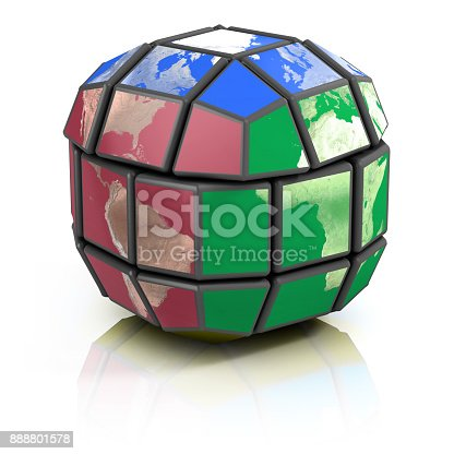 istock spherical earth  puzzle with missing pieces 888801578