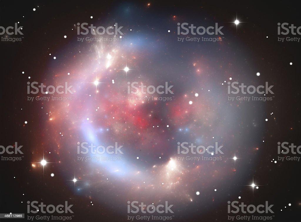 Spherical space nebula royalty-free stock photo