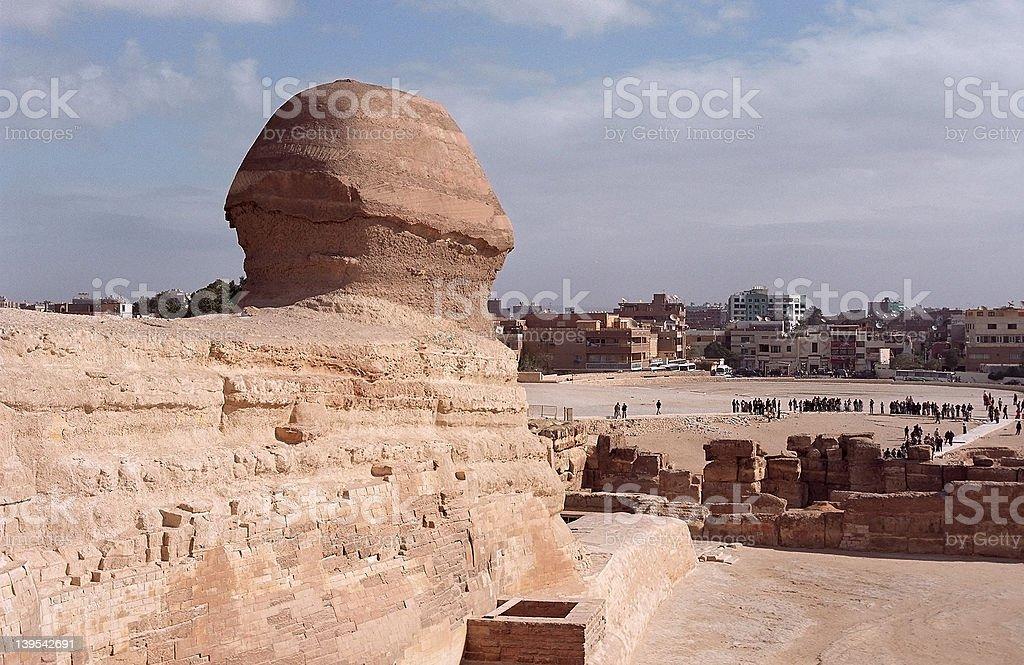 Sphinx and Cairo stock photo