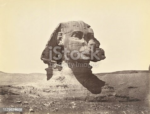 Sphinx at Gizeh. 1867 - 1871