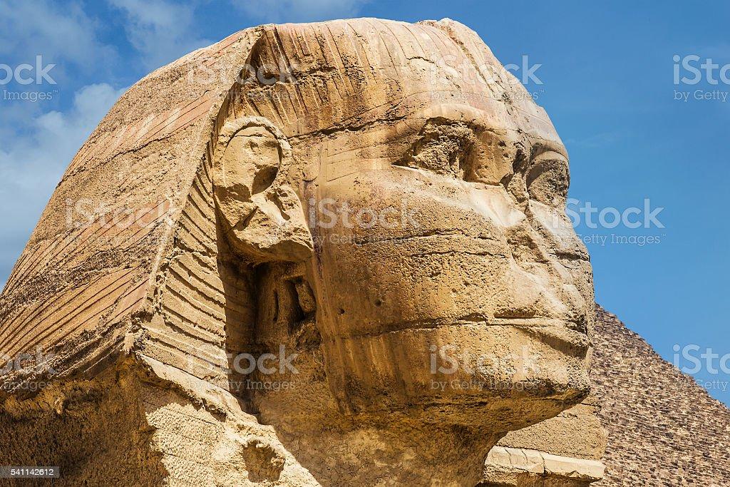 Sphinx Egypt portrait stock photo