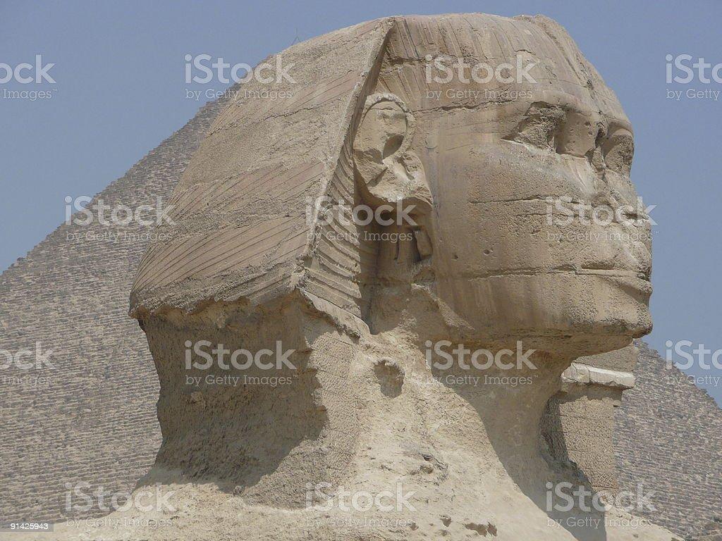 Sphinx head stock photo