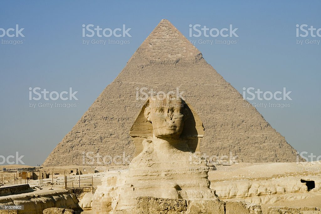 Sphinx in Cairo, Egypt royalty-free stock photo