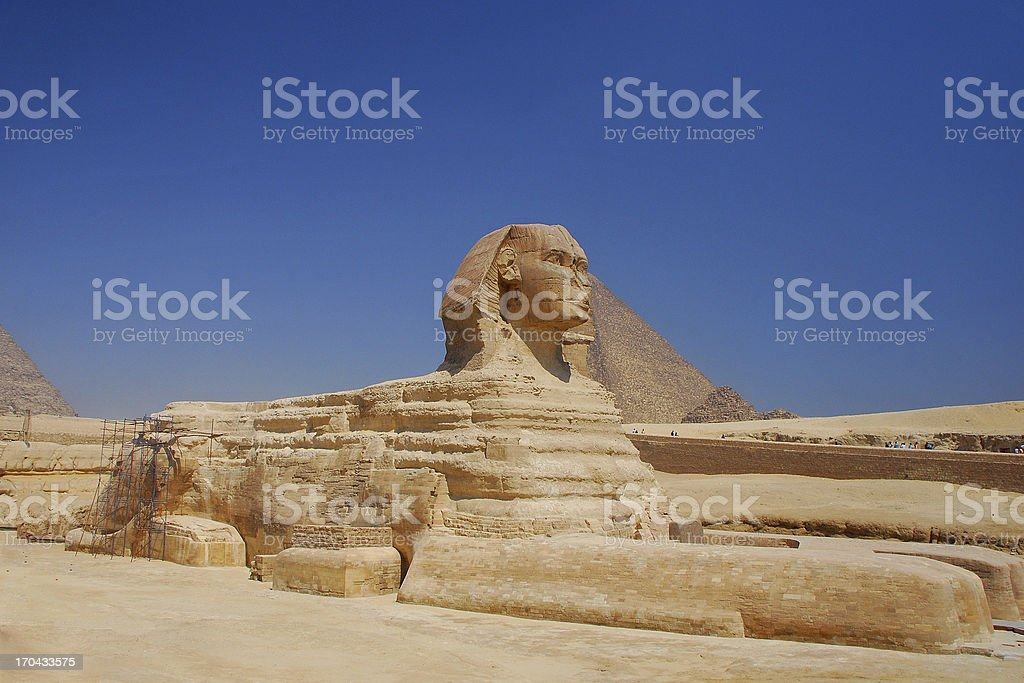 sphinx in egypt view royalty-free stock photo