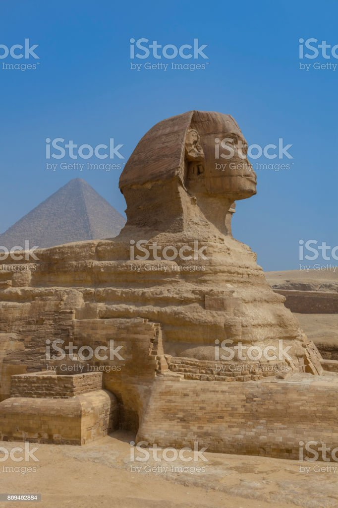 Sphinx in Giza, Cairo stock photo