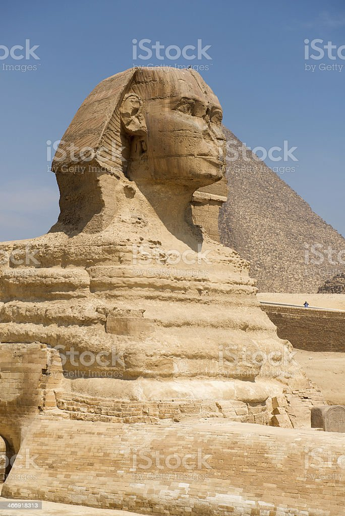 Sphinx in Giza royalty-free stock photo