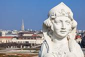 istock Sphinx in the Belvedere gardens. 471647004