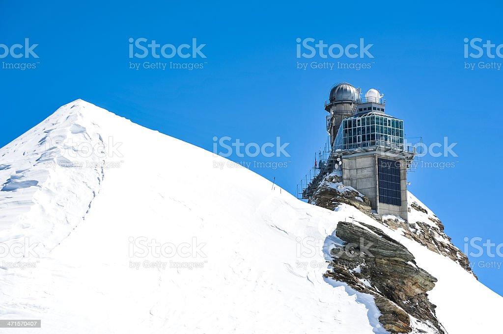 Sphinx observatory, Jungfrau, Switzerland royalty-free stock photo
