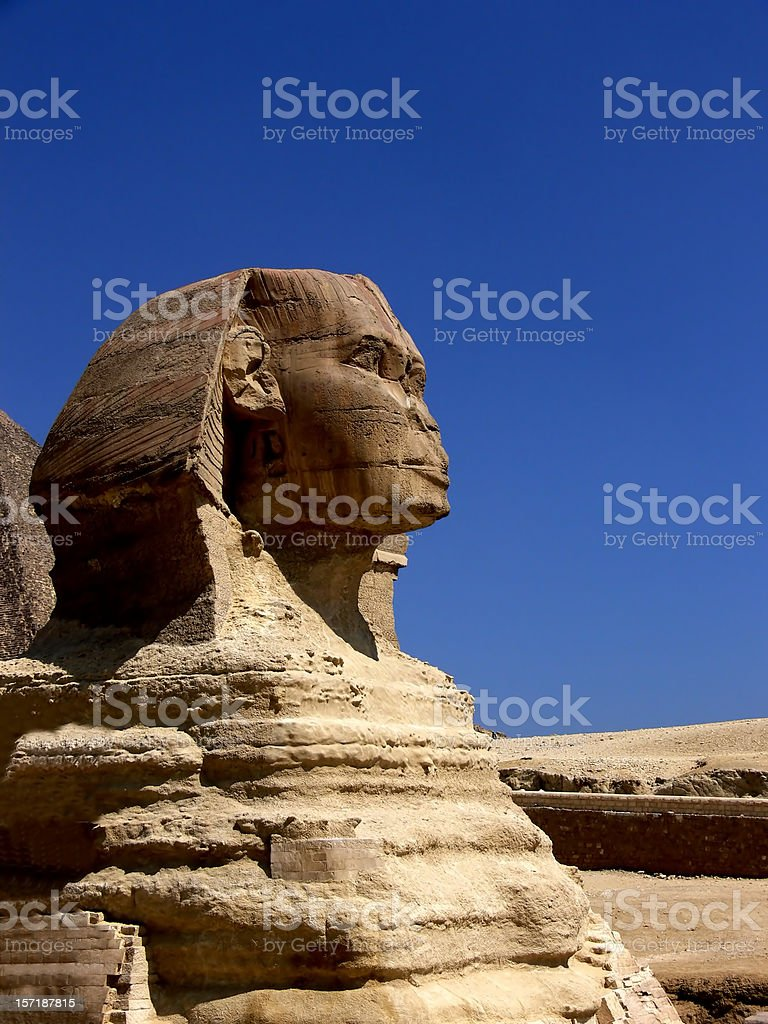 Sphinx of Gizeh stock photo