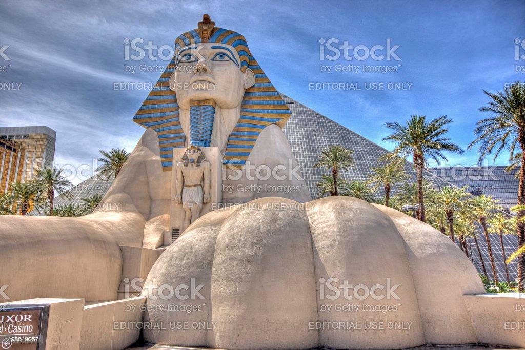 Sphinx outside Luxor Hotel stock photo