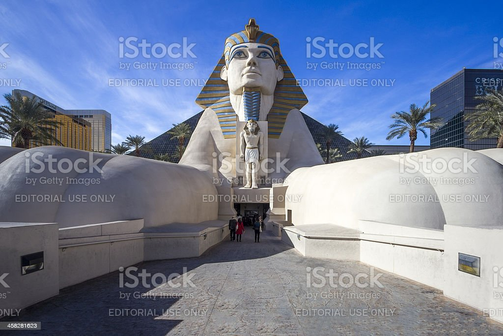 Sphinx Pyramid Replicas in Luxor Hotel and Casino stock photo