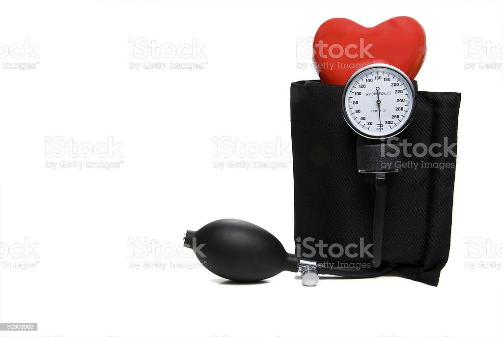 Sphygmomanometer & Heart stock photo