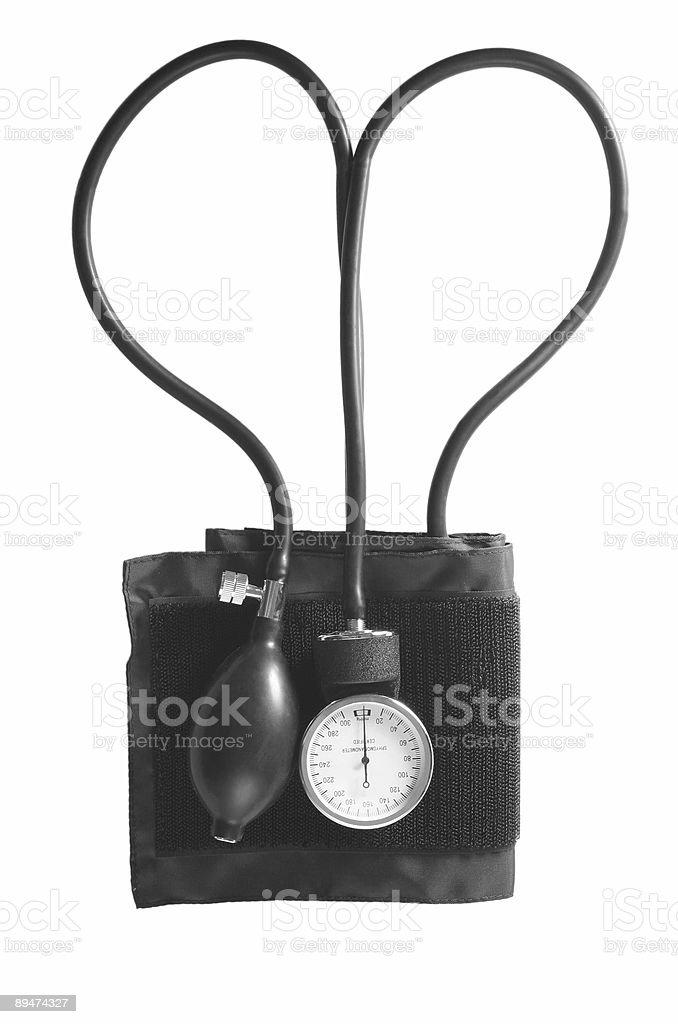 sphygmomanometer heart shape royalty-free stock photo