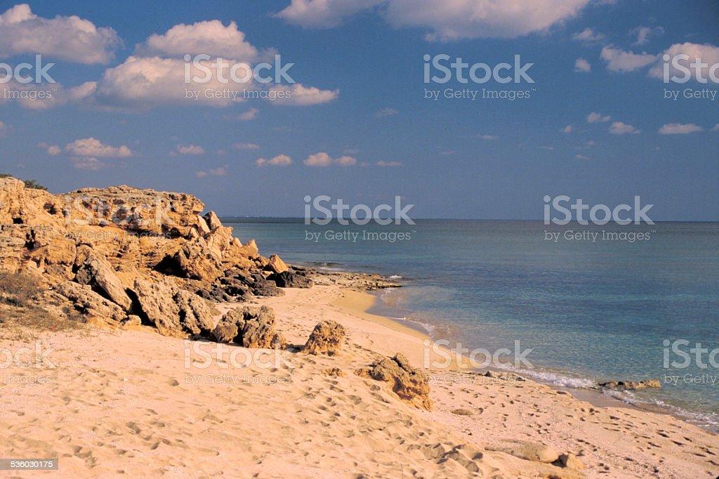 Spiaggia asud di Taranto stock photo