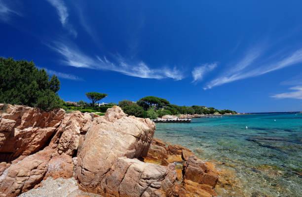 Spiaggia del Principe on Esmerald coast Sardinia, Italy stock photo