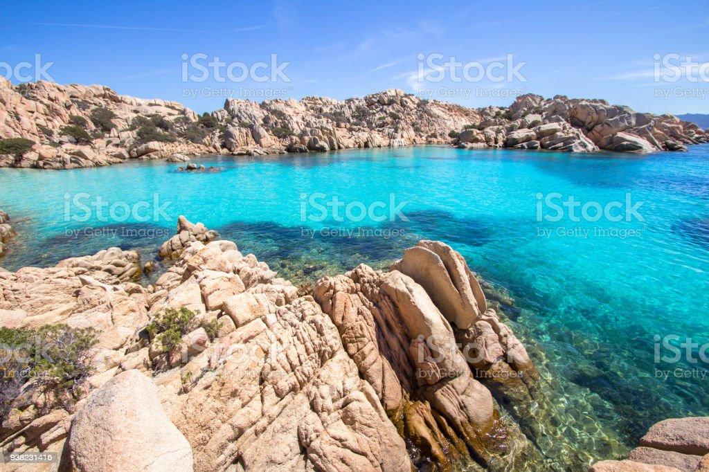 Spiaggia di Cala Coticcio, Sardegna, Italy stock photo