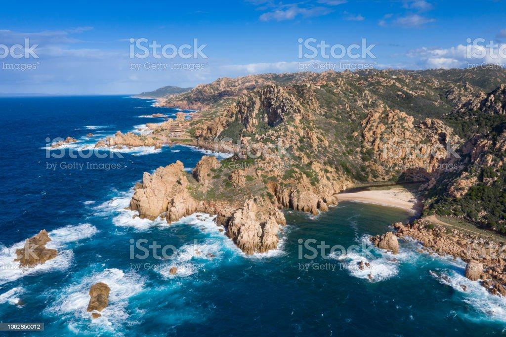 Spiaggia di Li Cossi, Costa Paradiso, Sardinien, Italien – Foto