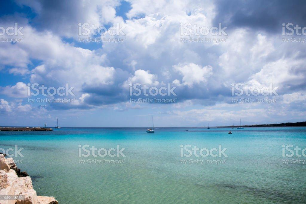 Spiaggia di San Vito Lo Capo stock photo