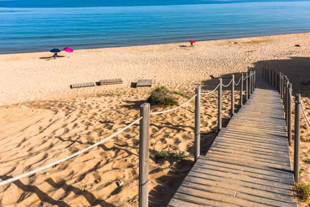 Spiaggia di Scivu beach stock photo