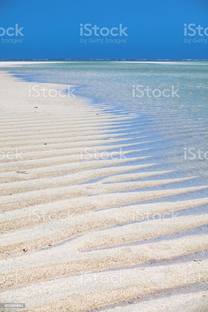 Spiaggia disegnata stock photo