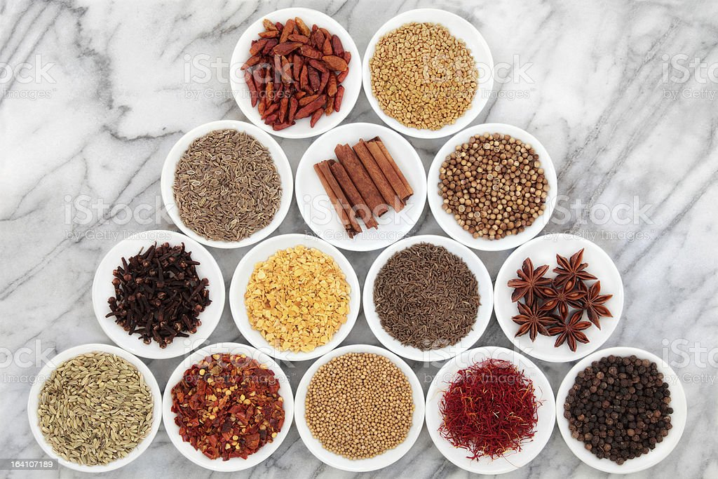 Spice and Herb Selection stock photo
