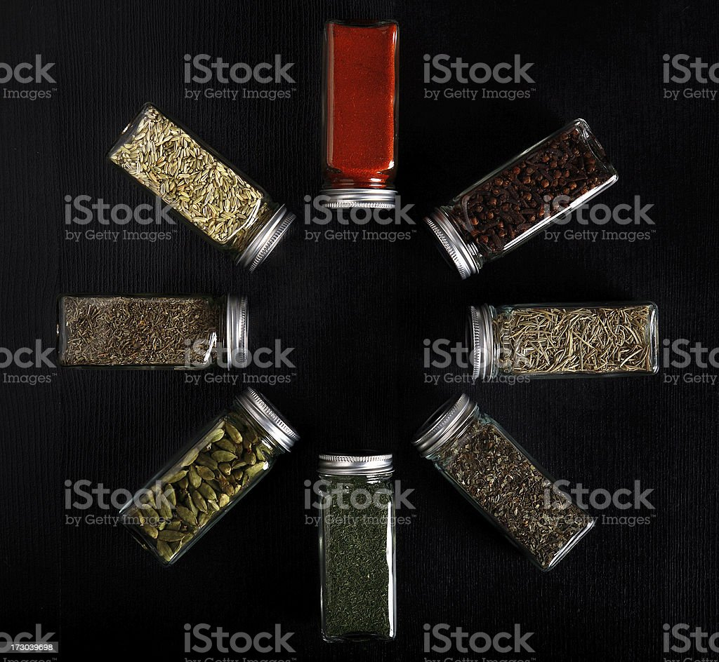 spice and seasoning stock photo