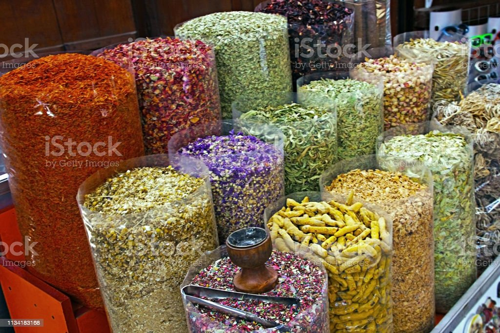 Spice At The Souq Herbal Petals In Old Market Dubai Uae