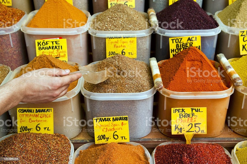 Spice Bazaar in Istanbul royalty-free stock photo