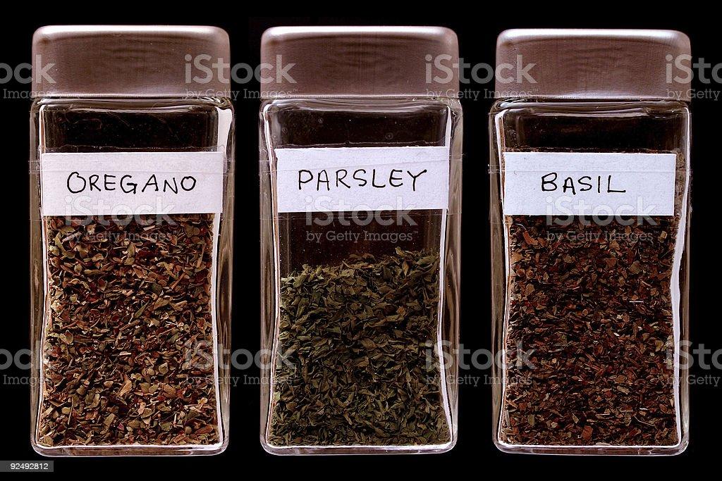 Spice bottles 4 royalty-free stock photo