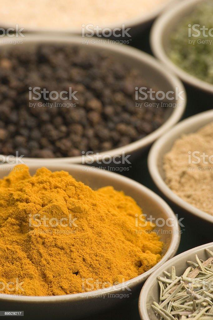 Spice y tazones foto de stock libre de derechos