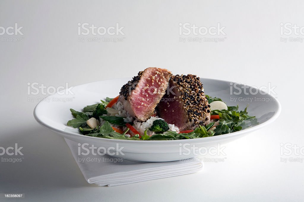 Spice Crusted Ahi royalty-free stock photo