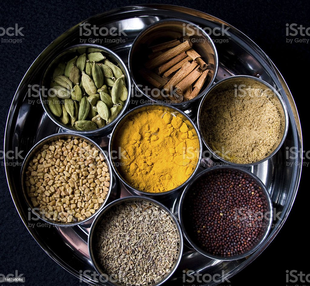 Spice Dabba royalty-free stock photo