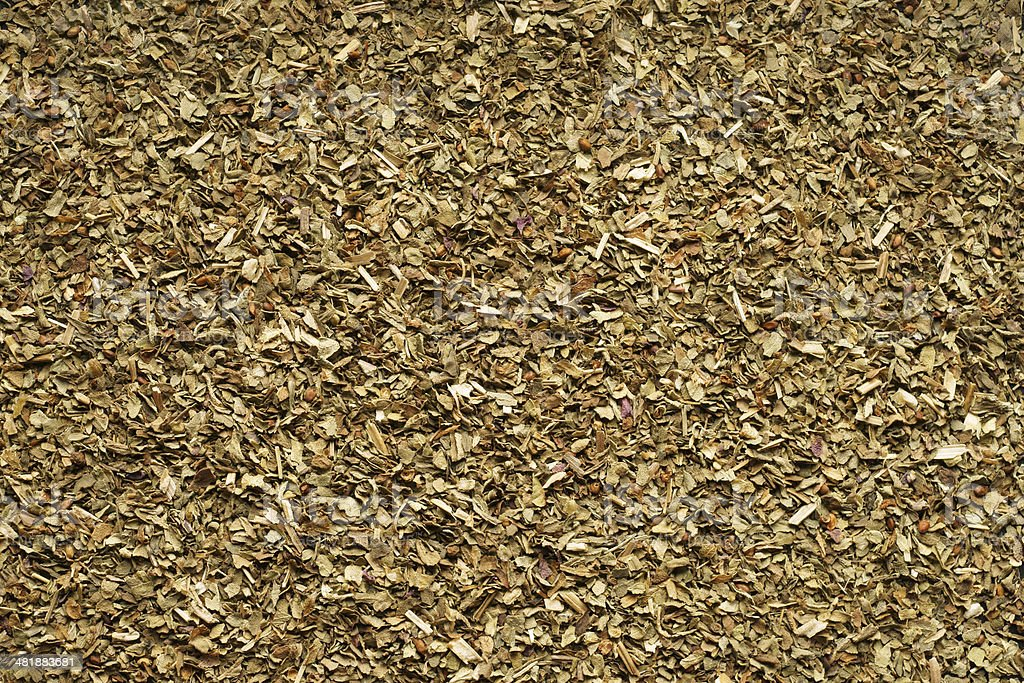 Spice dried Basil. Close-up. stock photo
