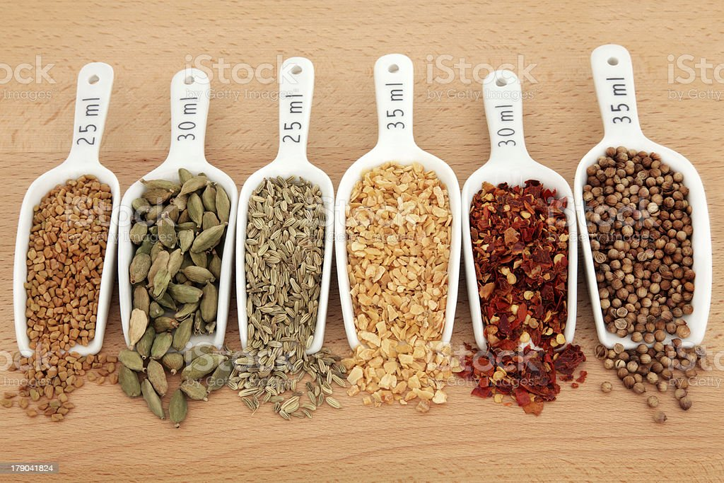 Spice in Scoops stock photo