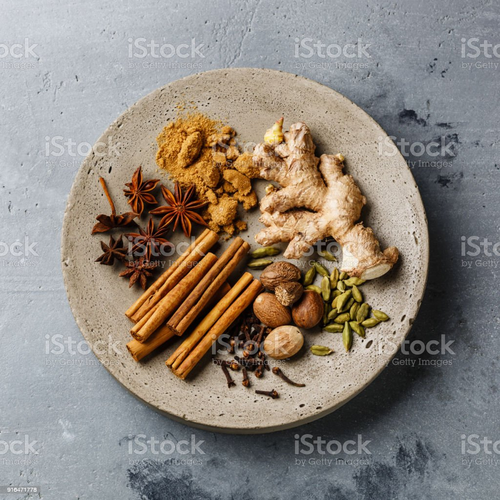 Spice Ingredient for Mulled wine stock photo