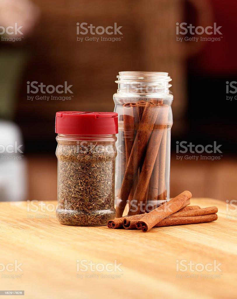 Spice Jars royalty-free stock photo