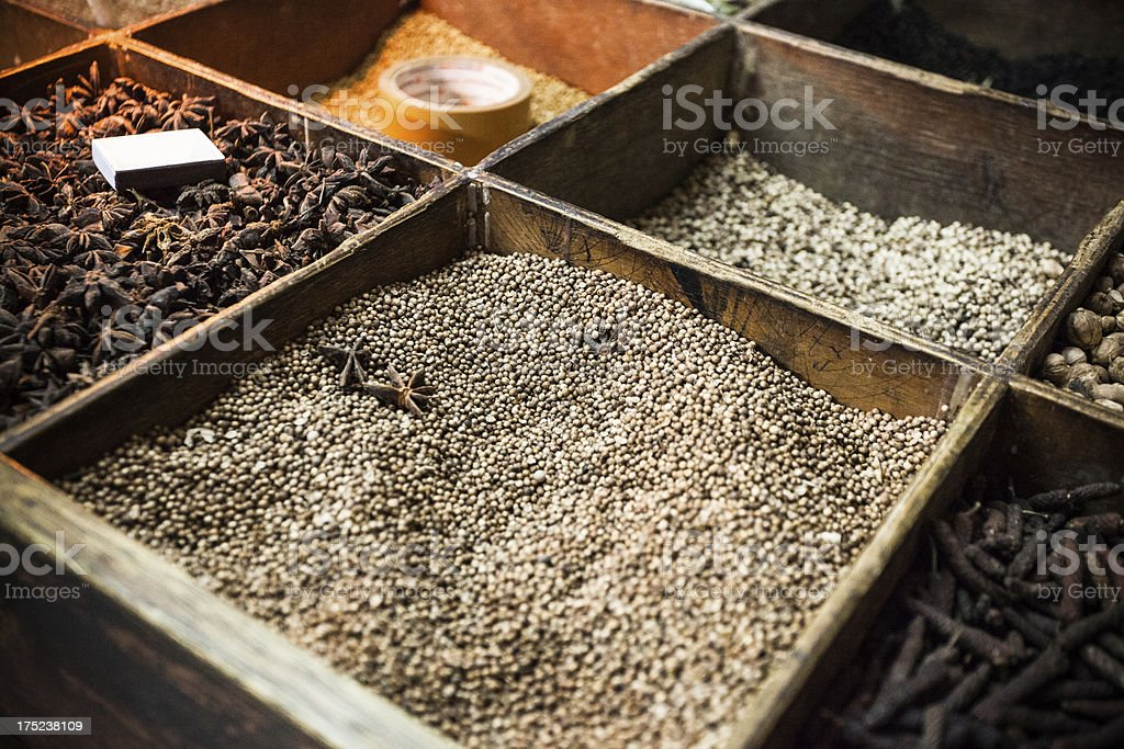 Spice Market in Asia royalty-free stock photo