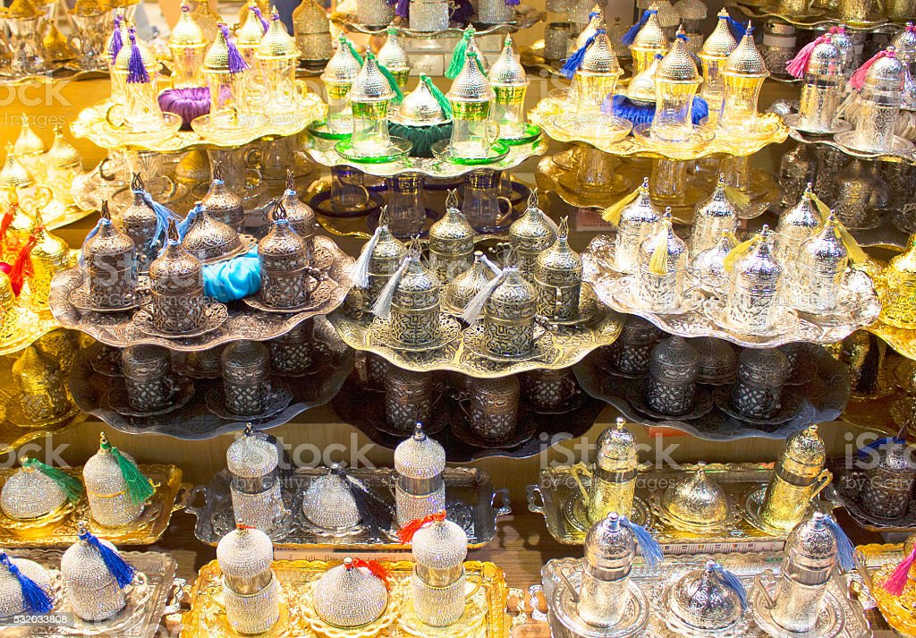 Spice market in Eminonu/Istanbul stock photo