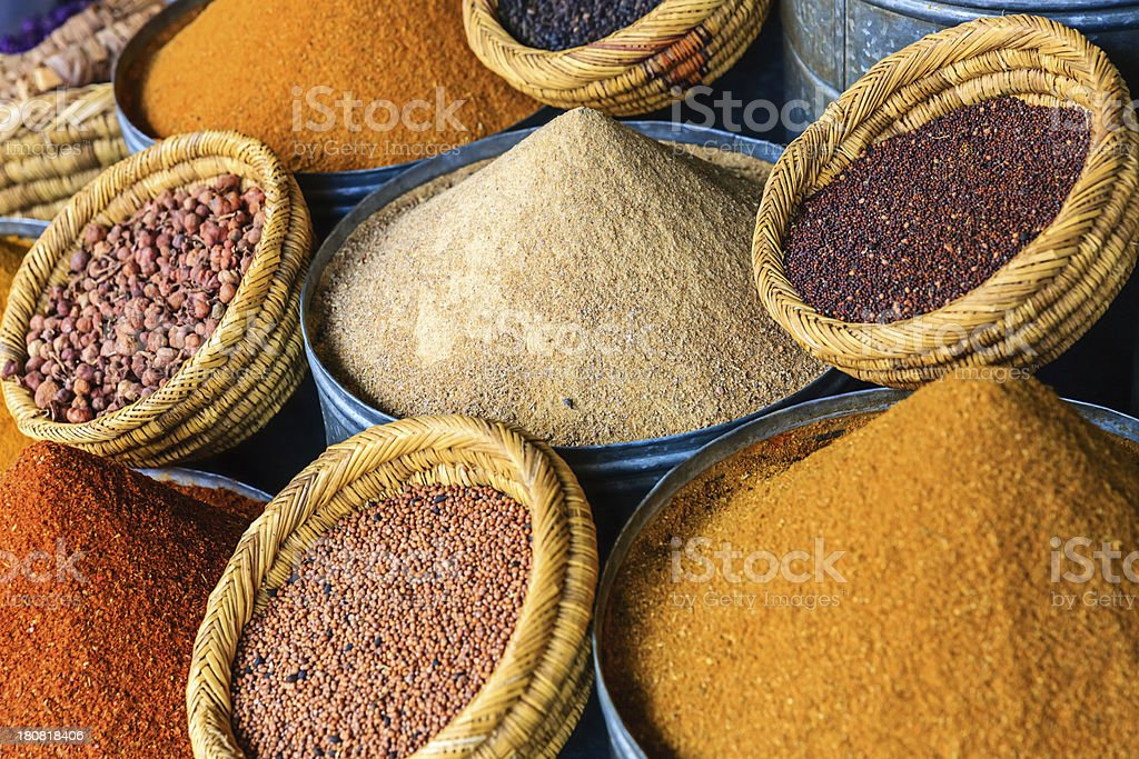 Spice market in Marrakech royalty-free stock photo
