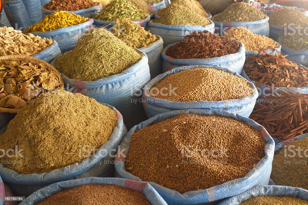 Spice market in Morocco royalty-free stock photo
