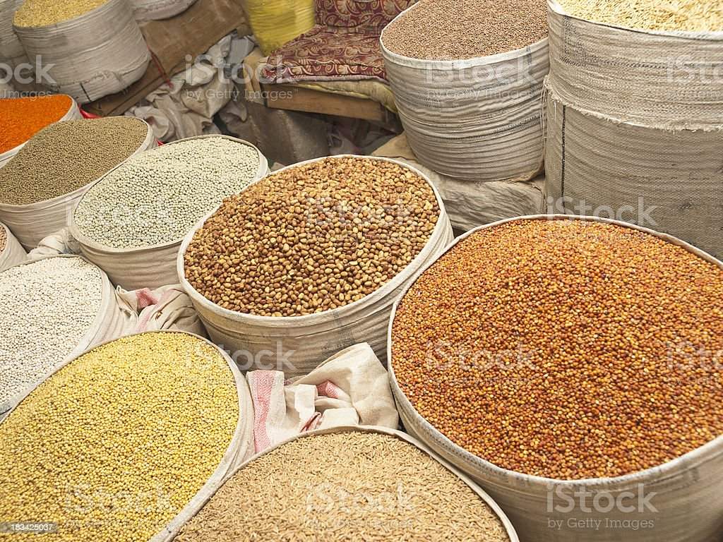 Spice market stock photo