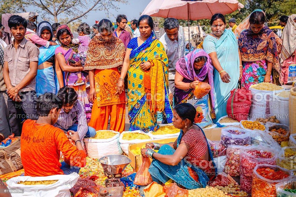 spice markets in Delhi, India stock photo