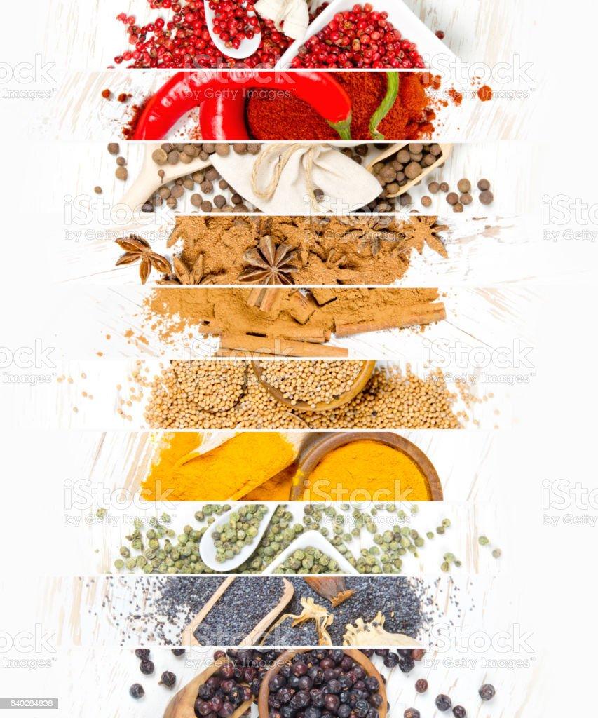 Spice Mix Stripes stock photo