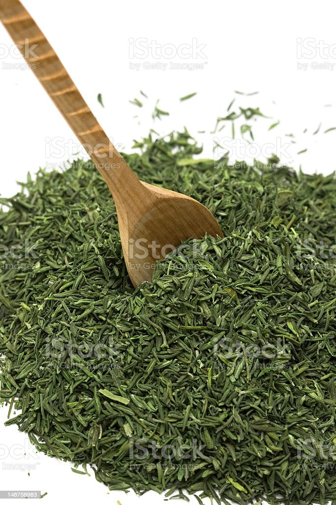 Spice of thyme isolated on white background royalty-free stock photo