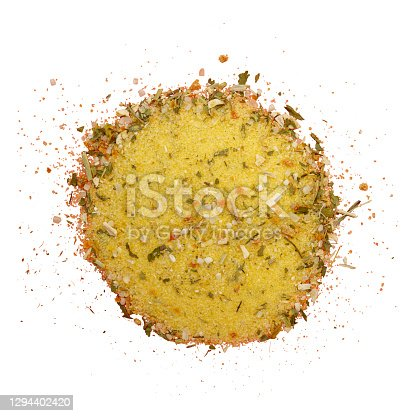 Heap of various green herbs isolated on a white background