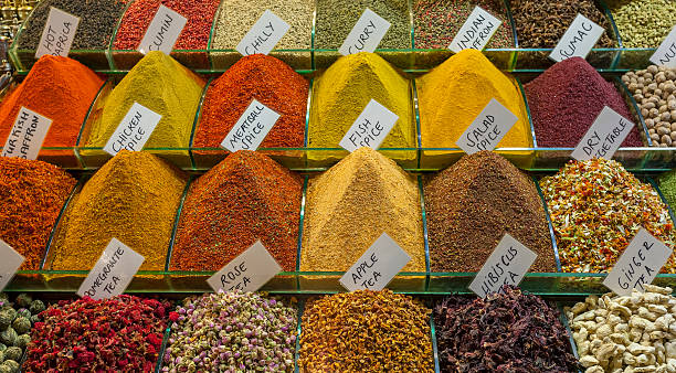 Spice Traditional spices market. asian market stock pictures, royalty-free photos & images